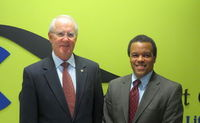 Board Chair Bill Spring and New President/Executive Director Larry Benders